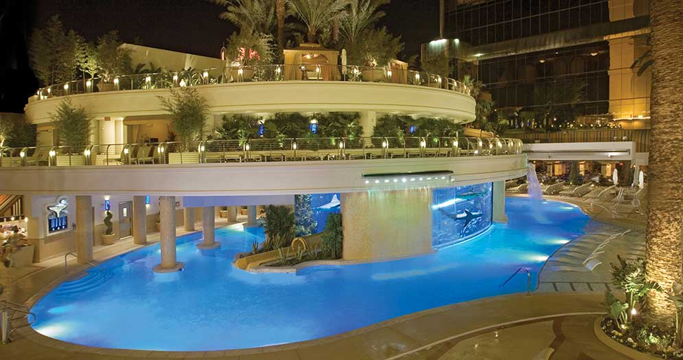 Tour a shark tank golden nugget las vegas for Pool spa trade show las vegas