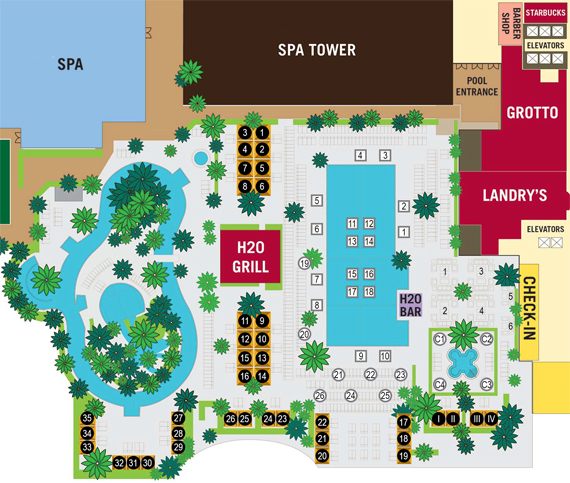 Cabana and Day Bed Map