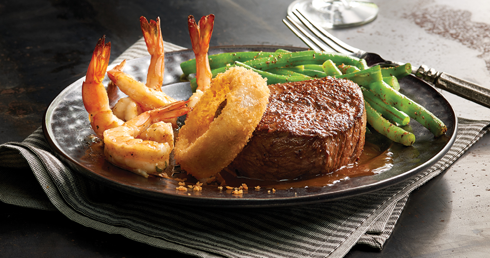 Claim Jumper Steak and Shrimp