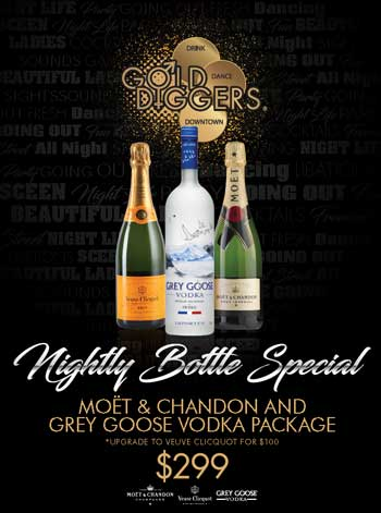 Gold Diggers Bottle Specials