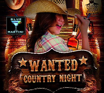 Blue Martini Country Night