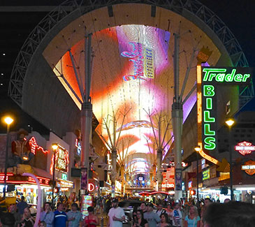 Fremont Street Experience Light Show