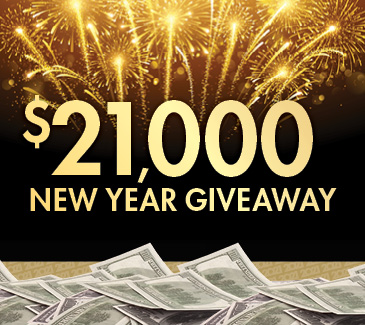 $21,000 New Year Giveaway